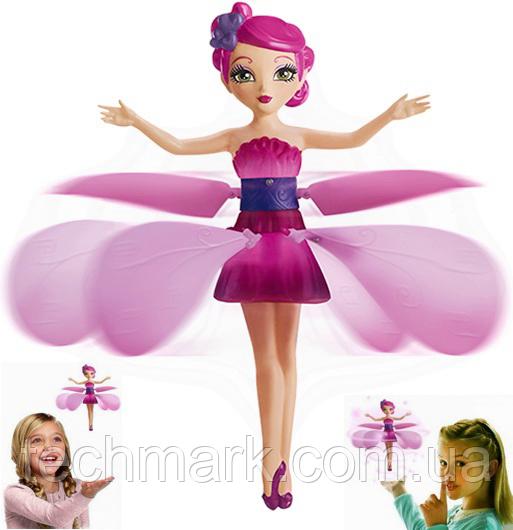 Летающая кукла волшебная фея летит парит над рукой Flying Fairy розовая