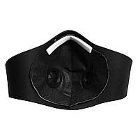 Чёрная защитная маска  HLight с клапаном+ 5 сменных фильтров, фото 5