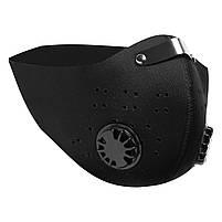 Чёрная защитная маска  HLight с клапаном+ 5 сменных фильтров, фото 6