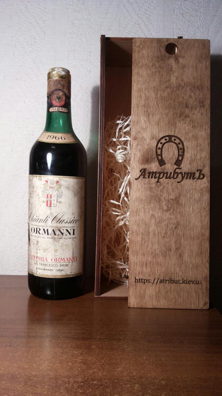 Вино 1966 года Chianti Classico Италия винтаж