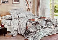 Евро комплект двухспального постельного белья Париж