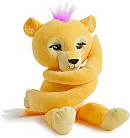 WowWee Fingerlings Мягкий интерактивный львёнок обнимашка Сэм Hugs Lion Sam