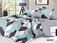 Комплект постельного белья Цветные ромбики сатин (Евро)