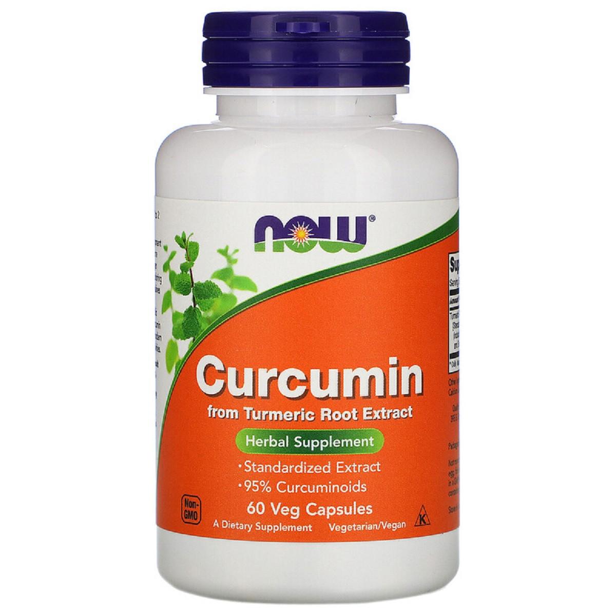 Куркумин, Now Foods, Curcumin, 60 Капсул