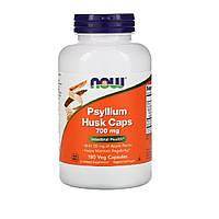 Подорожник (Псилиум), Psyllium Husks, Now Foods, 700 Мг, 180 Капсул