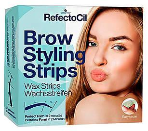 Воскові смужки для корекції брів RefectoCil Brow Styling Strips 60 шт (RefectoCil31)