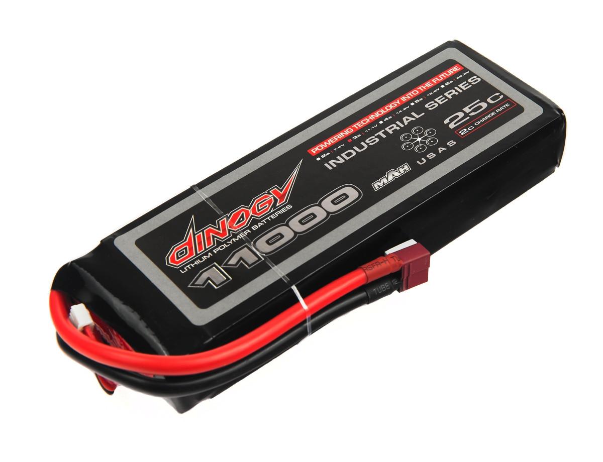 Аккумулятор Dinogy Li-Pol 11000mAh 11.1V 3S 25C 30x61x178мм T-Plug