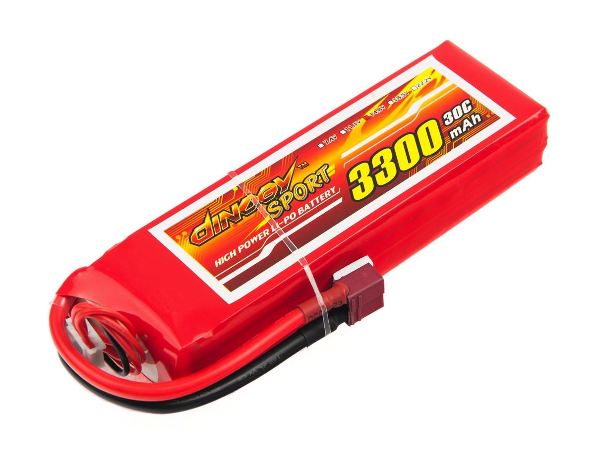 Аккумулятор Dinogy Li-Pol 3300mAh 14.8V 4S 30C 26x43x142мм T-Plug