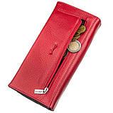 Кошелек женский комбинированный кожаный KARYA 17396 Красный, фото 5