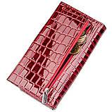 Кошелек женский лаковый KARYA 17401 Красный, фото 3