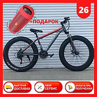 Горный спортивный велосипед внедорожник ФЕТБАЙК 26 дюймов Fat Bike 630 Красный для подростков для взрослых