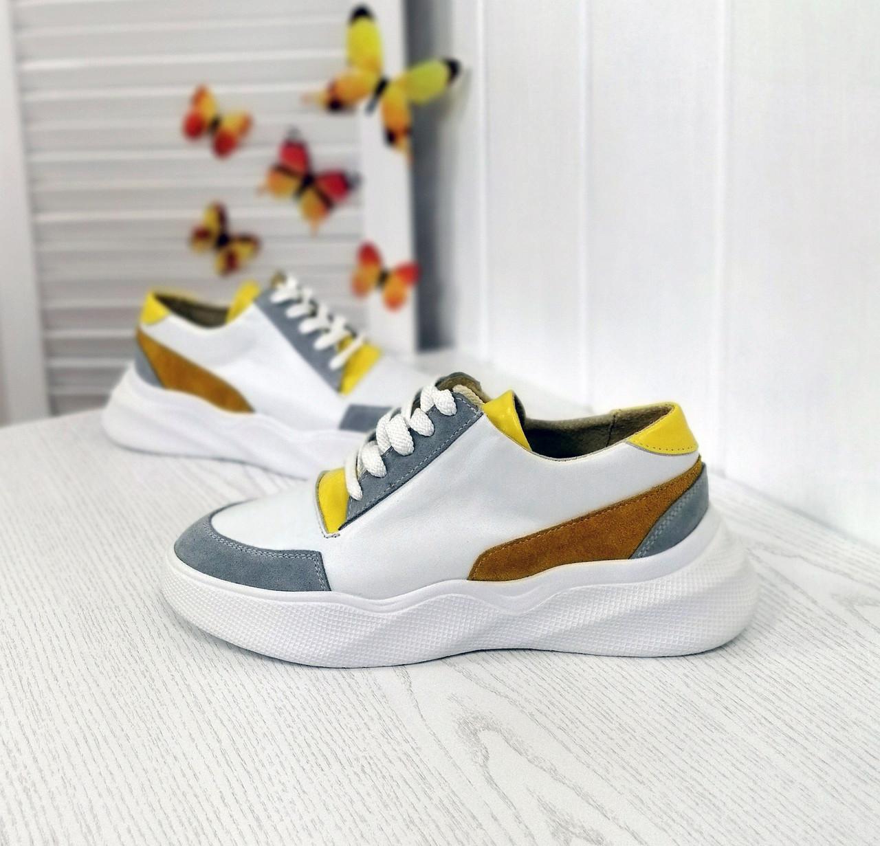 Комбинированные женские кроссовки