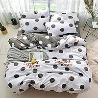 Комплект постельного белья Горох ТМ Tag R7480, Полуторный, 150х215, 150х220, 50х70-2 шт