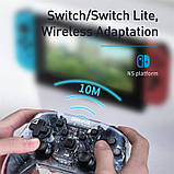 Игровой контроллер Baseus Motion Sensing SW Vibrating Gamepad, прозрачный, фото 9