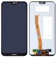 Дисплей модуль для Huawei P20 Lite / Nova 3e NE-LX1 ANE-LX3 в зборі з тачскріном, чорний, Original (PRC)