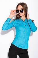 Рубашка женская с длинным рукавом 118P082 (Голубой), фото 1