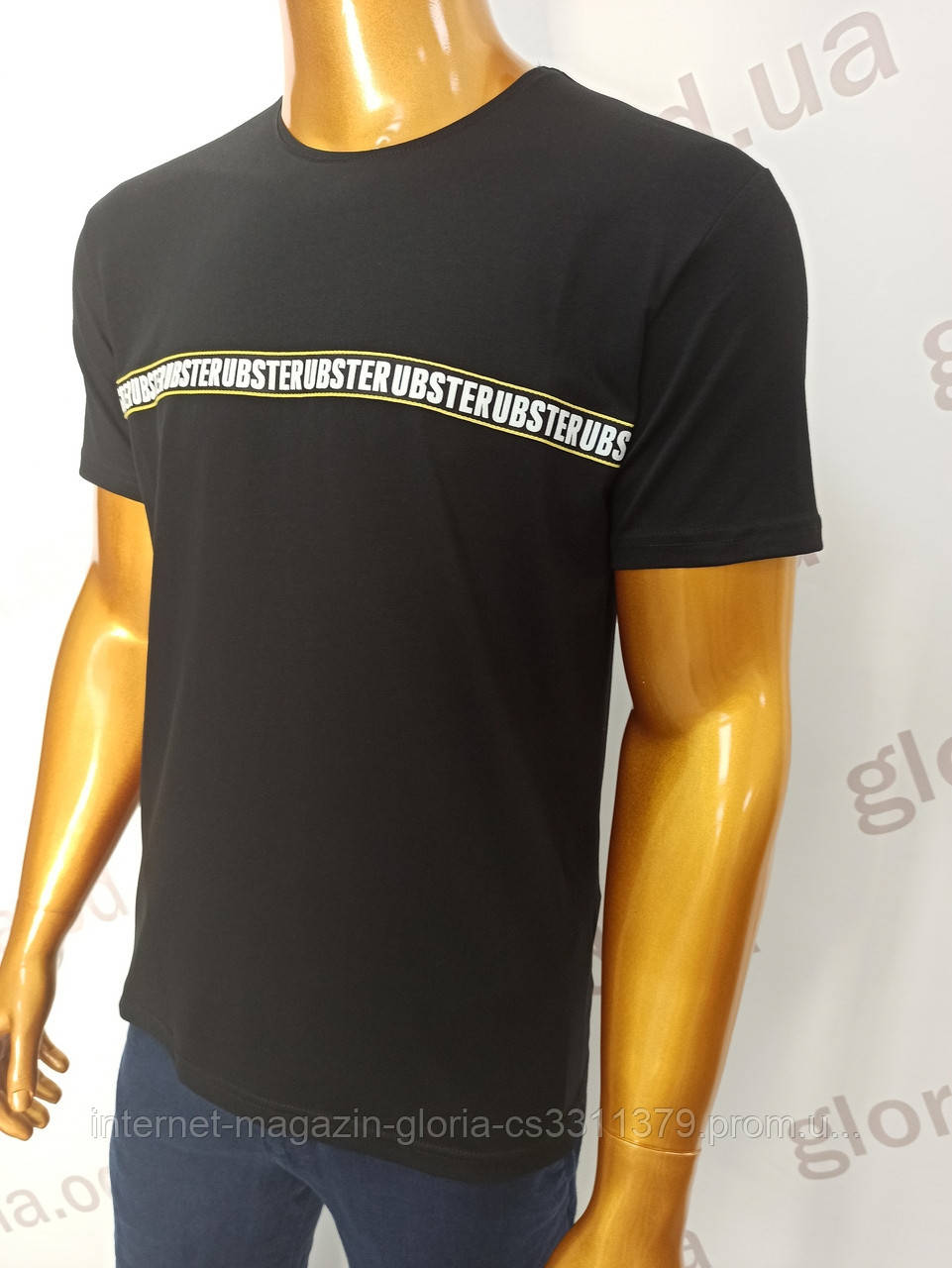 Мужская футболка MSY. 42668-8343(ч). Размеры: M,L,XL,XXL.