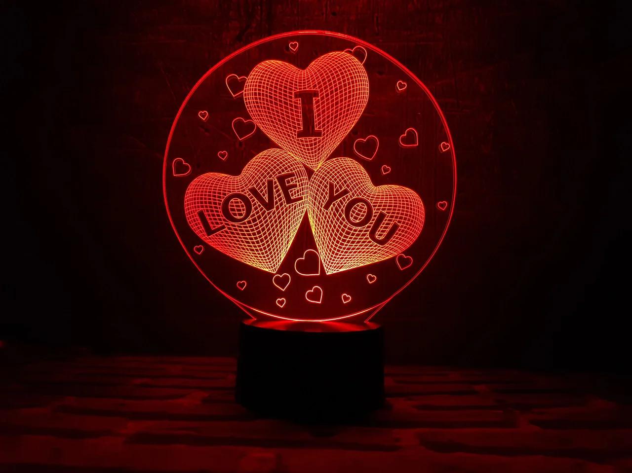 """Сменная пластина для 3D светильников """"I love you"""" 3DTOYSLAMP"""