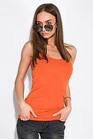 Майка женская на бретелях 436V002-1 (Оранжевый)