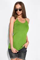 Майка женская на бретелях 436V002-1 (Зеленый)