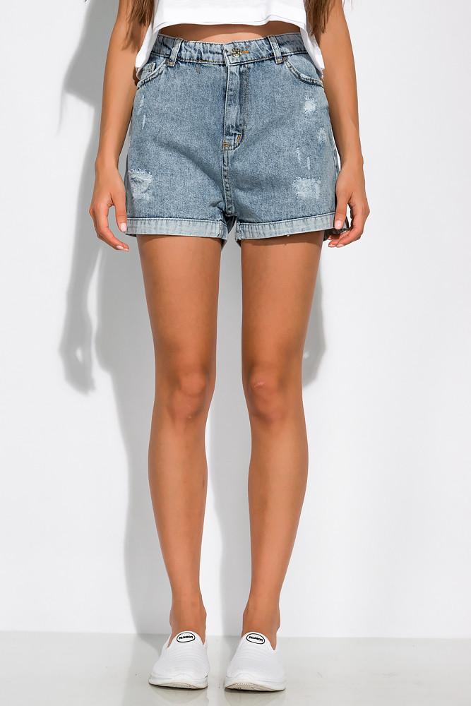 Модные джинсовы шорты 162P013 (Светло-синий)