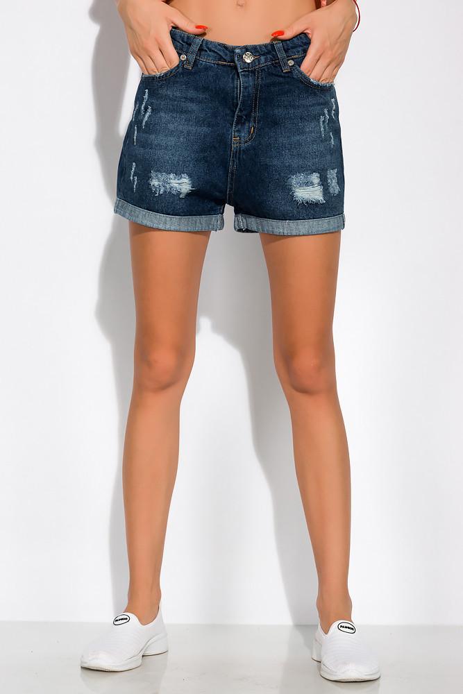 Модные джинсовы шорты 162P015 (Синяя варенка)