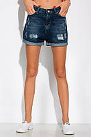 Модные джинсовы шорты 162P015 (Синяя варенка), фото 1