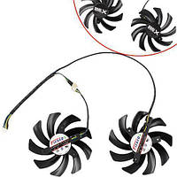 Вентиляторы 2шт 75мм 12В 4пин FD7010H12S для GTX 660 670 680 690