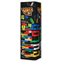 Настольная Игра VEGA разноцветная- Башня или Вега , Дженгаиз деревянных деталей 54 элемента, Украина