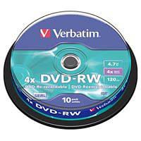 Диск DVD Verbatim 4.7Gb 4x Cake box 10шт (43552)