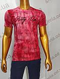 Мужская футболка MSY. 11230-8332(red). Размеры: M,L,XL,XXL.   Яркая молодёжная модель с модным принтом., фото 5