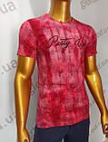 Мужская футболка MSY. 11230-8332(red). Размеры: M,L,XL,XXL.   Яркая молодёжная модель с модным принтом., фото 6