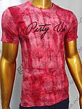 Мужская футболка MSY. 11230-8332(red). Размеры: M,L,XL,XXL.   Яркая молодёжная модель с модным принтом., фото 7