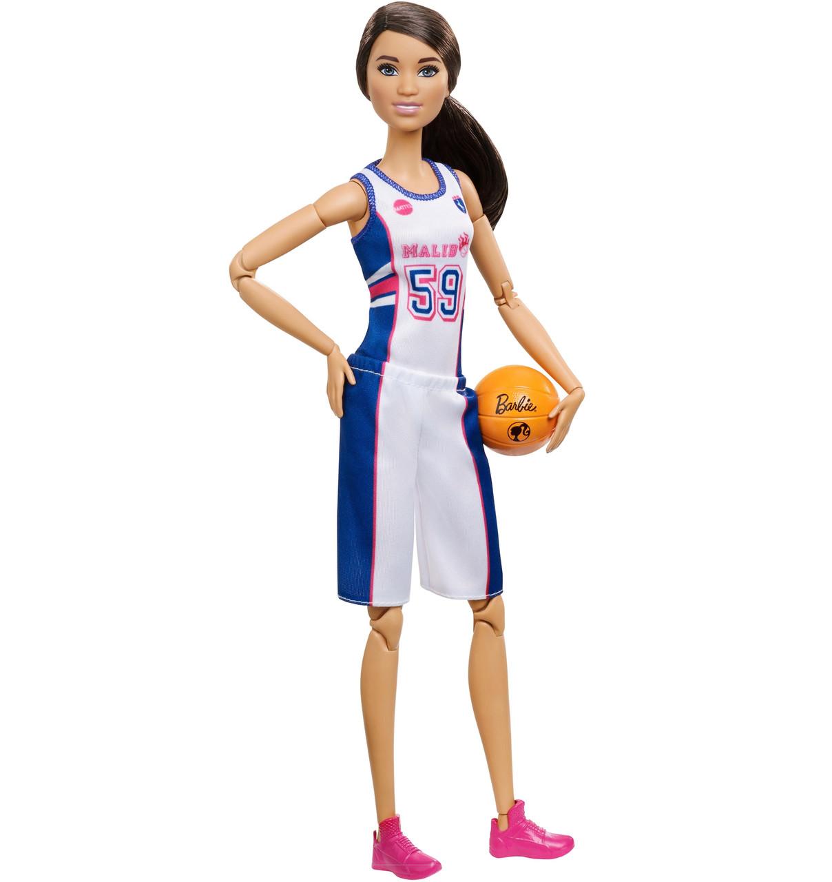 Оригинальная Кукла Барби из серии Безграничные Движения Баскетболистка (FXP06) (887961696929)