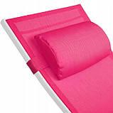 Шезлонги садові TecTake 403342 рожевий комплект 2 шт, фото 2