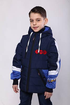 Куртки на хлопчика демісезонні 32-синій