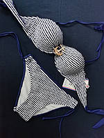 Купальник раздельный бандо с трусиками на завязках, размер 36,38,