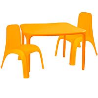 Детский стол для творчества + 2 стула Оранжевый 18-100-05, КОД: 1130257