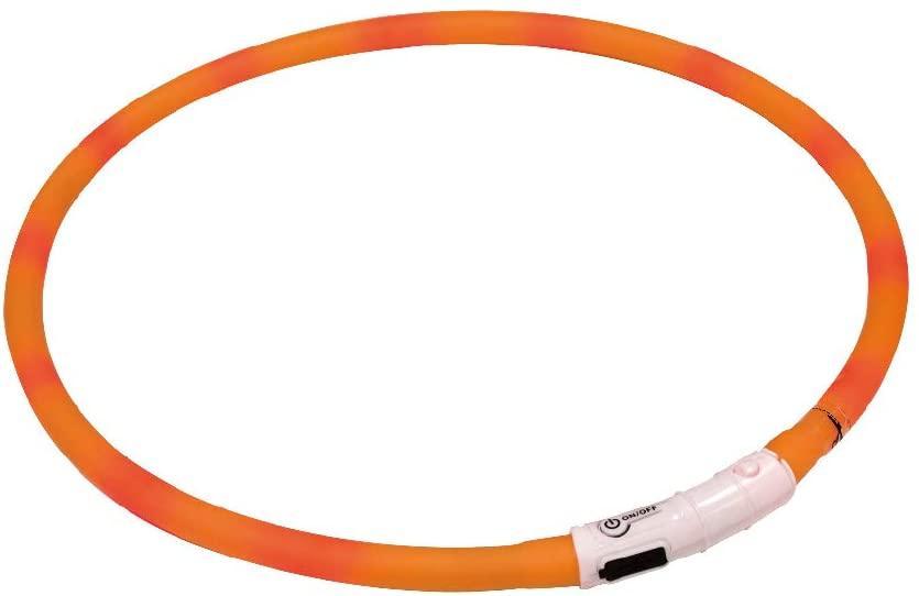 LED ошейник 40 см Croci USB силикон оранжевый