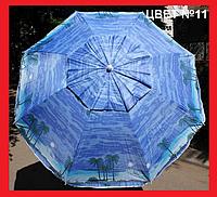 Зонт 2м з клапаном, нахилом і напиленням
