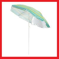 Зонт 220см наклон с напылением и пластмассовыми шпицами, фото 1