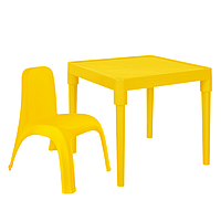 Детский стол для творчества + стул Желтый 18-100-17, КОД: 1130270