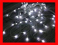 Гирлянда Бахрома LED 200 белый, белый провод