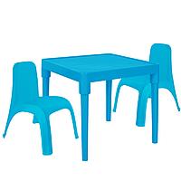 Детский стол для творчества + 2 стула Голубой 18-100-26, КОД: 1130279