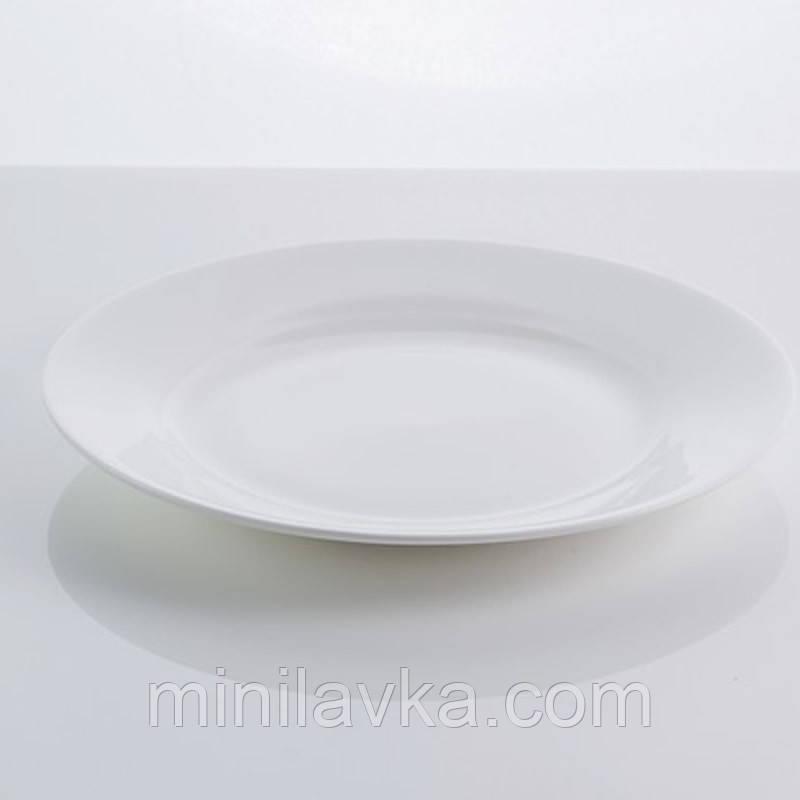 """Тарілка столова з кістяного порцеляни """"Rim"""" Sakura SK-0002 7,5"""""""