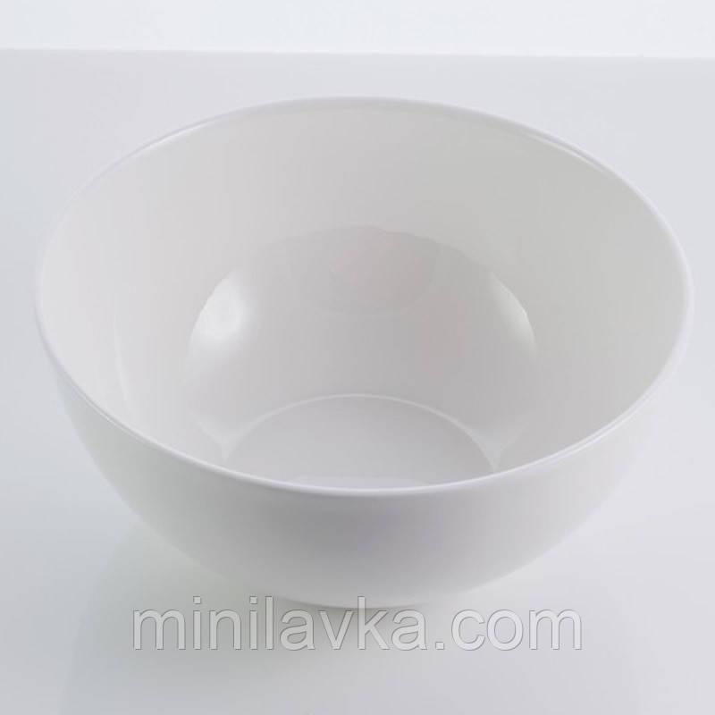 "Тарелка салатная из костяного фарфора ""Rim"" Sakura SK-0004 700 мл"