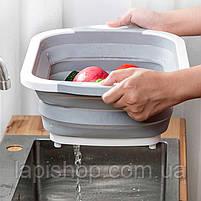 Доска миска складная разделочная для резки и мытья овощей, фото 2