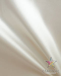 Атлас матовый прокатный Светло-молочный