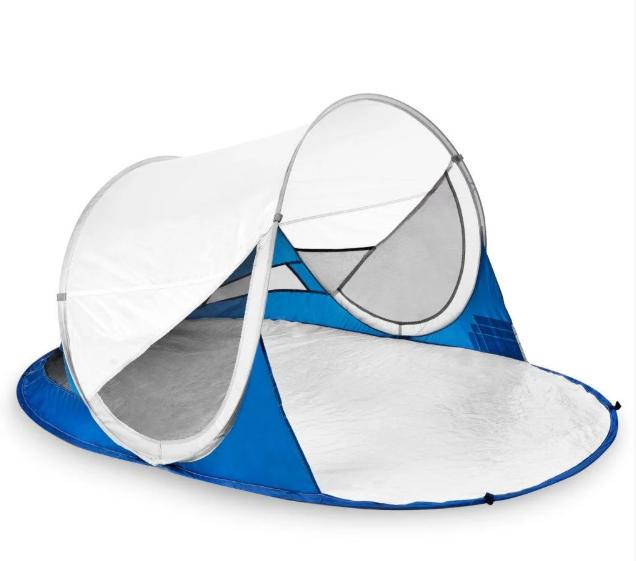 Пляжная палатка с уфа защитой (926784) Spokey 190x120x90 см Бело-синий