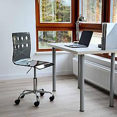 Офисный стул Vecotti вращающийся акриловое стекло Черный